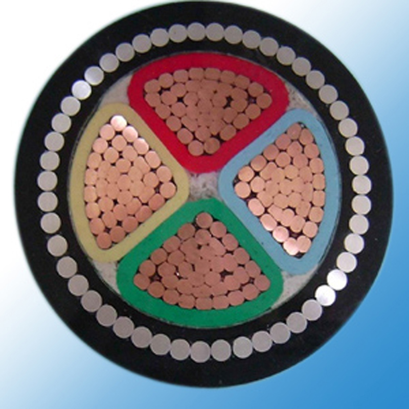 0.6/1kv cu/xlpe/swa/pvc power cable xlpe insulated steel wire armoured power cable