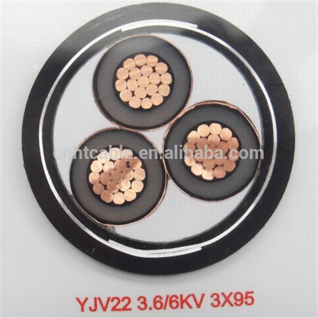3 cores Medium Voltage Armoured Power Cable with KEMA PSB TUV certifications