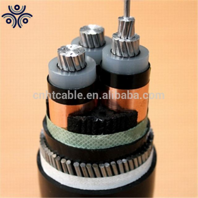 6/10kv 3*185MM2, AL/XLPE/CWS/SWA/PVC medium voltage cable with IEC60502-2