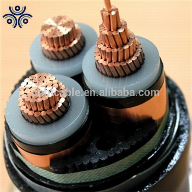 8.7/15KV 3 core copper 150mm2 xlpe insulated steel tape armour cable