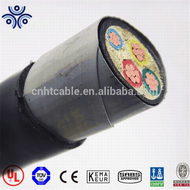 Low voltage copper or aluminum conductor armored power cable