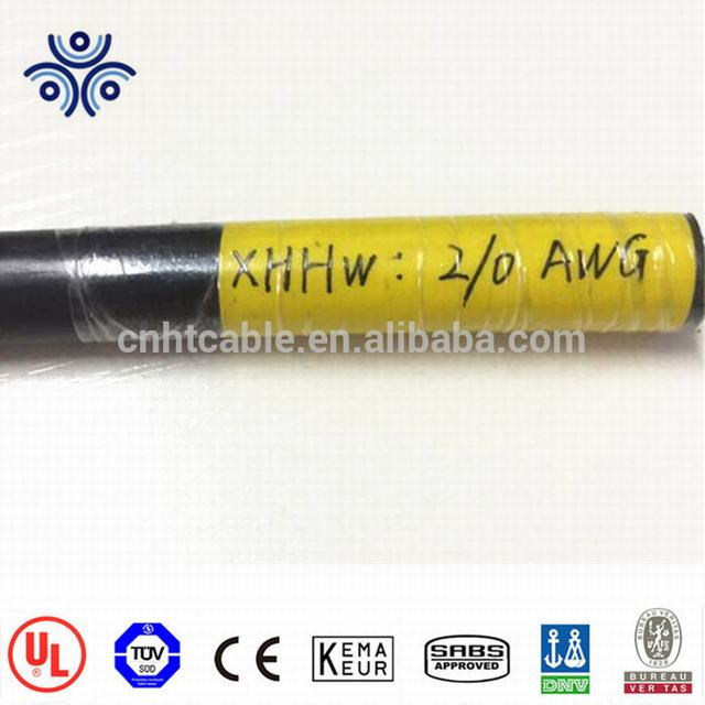 Sizes 14 12 10 AWG black XLPE insulation sunlight resistant XHHW wire