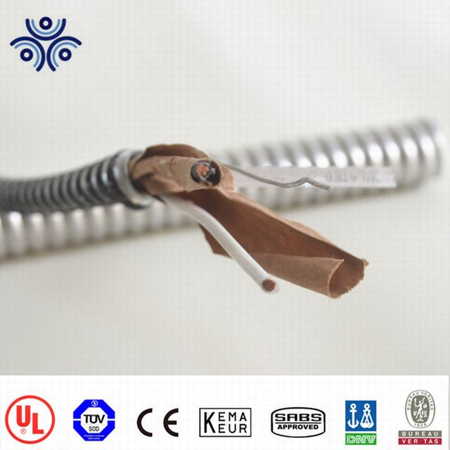 UL4 Solid Power Lighting Copper Conductor Indoor Armored Electrical Cable BX AC-90