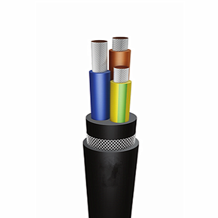 VDE 0.6/1kV mining Cable 3×25+1×6+2x6mm2