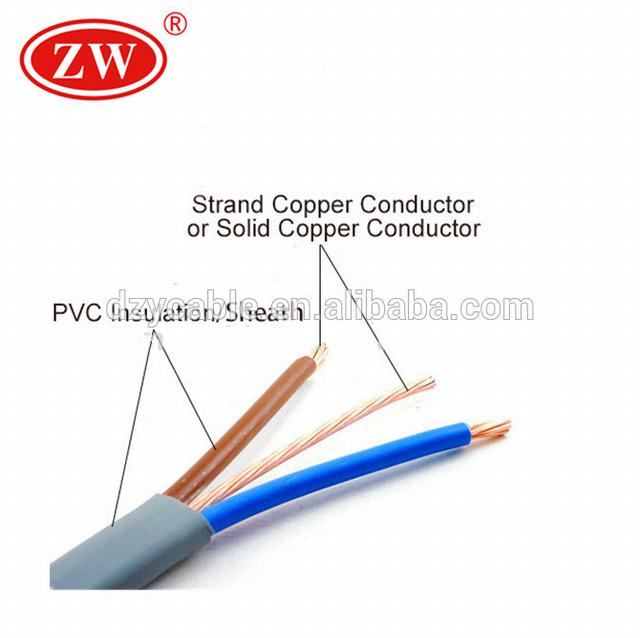 1.5 and 2.5mm2 strandeded copper conductor twin and earth cable
