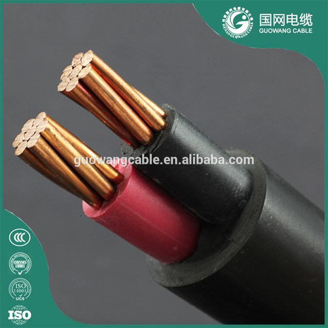 0.6/1kv Class 2 Stranded Copper Conductor PVC Insulation PVC Outer Sheath Black NYY Cable 2×1.5mm2