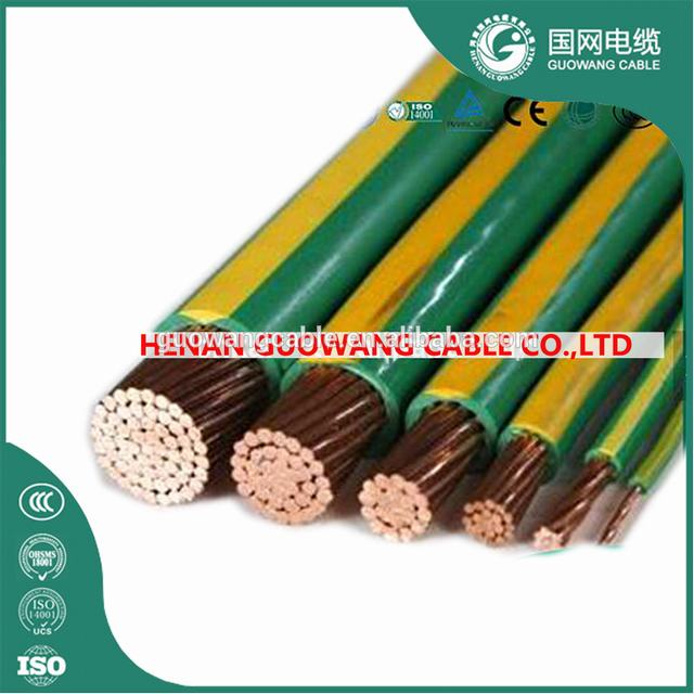 0.6/1kv PVC insulated earth wire electrical cable 95mm2 120mm2 150mm2 G/Y