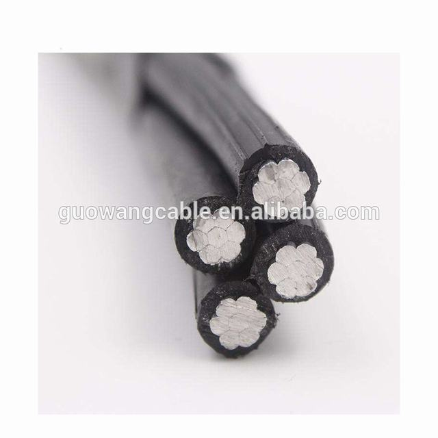 1KV 4x50mm Aerial Bundled Twisted Pair Aluminum Wire ABC power cable