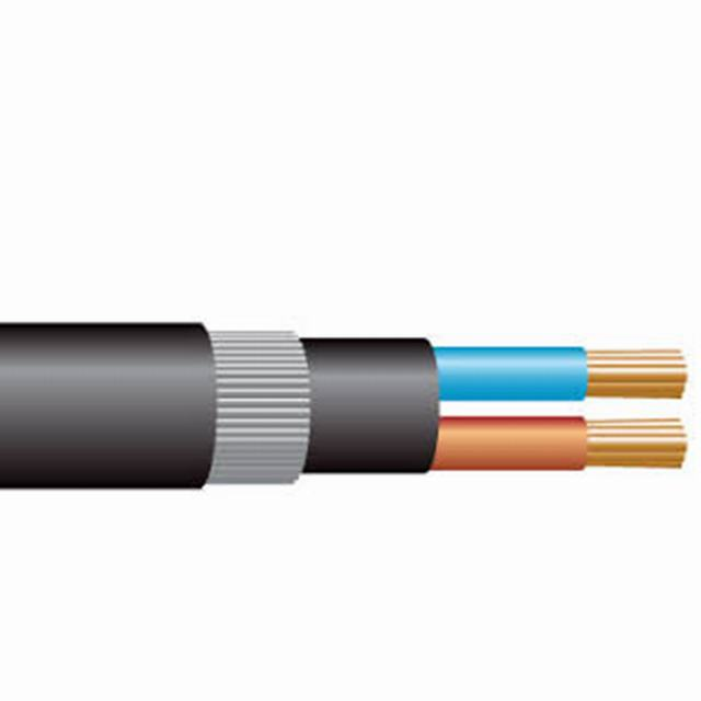 2 core low voltage black electrical outdoor cable