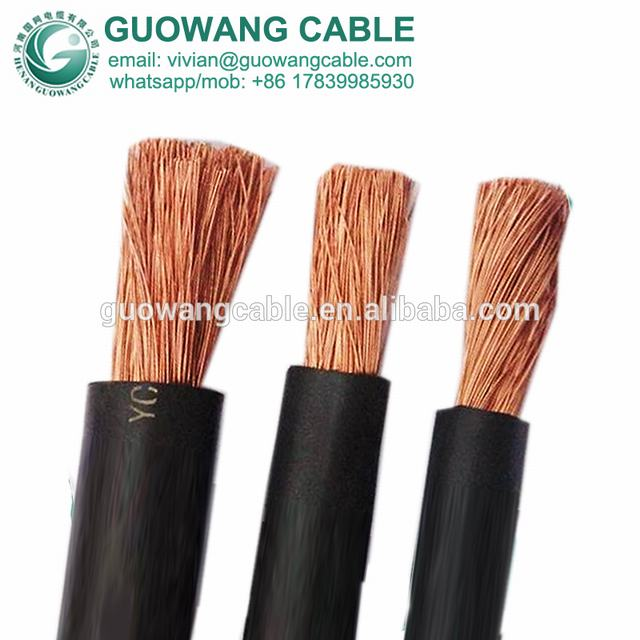 60245 Iec 81 Welding Cable YH YHF Class 5 Copper Core 185 Mm2