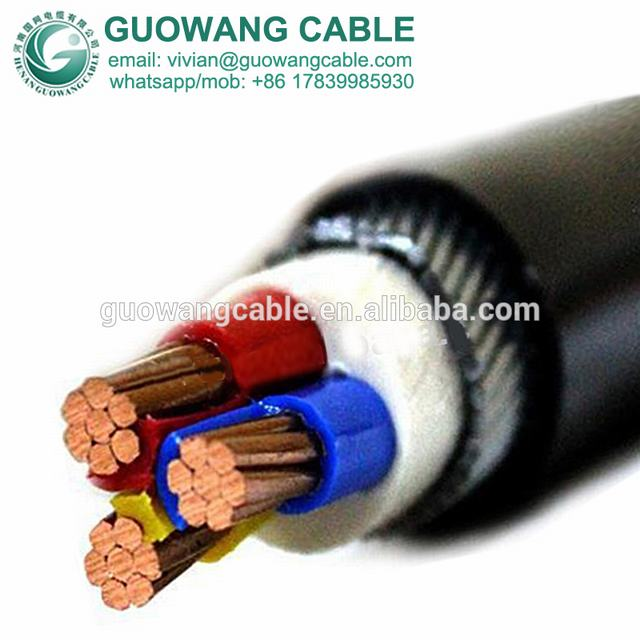 CCC Standard XLPE Coated Electric Transmission 3x16mm2 Power Cable NH-YJV22