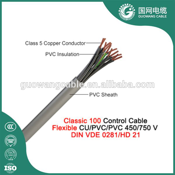 CY/SY/YY PVC Insulated 1.5mm2 Control Cable for outdoor