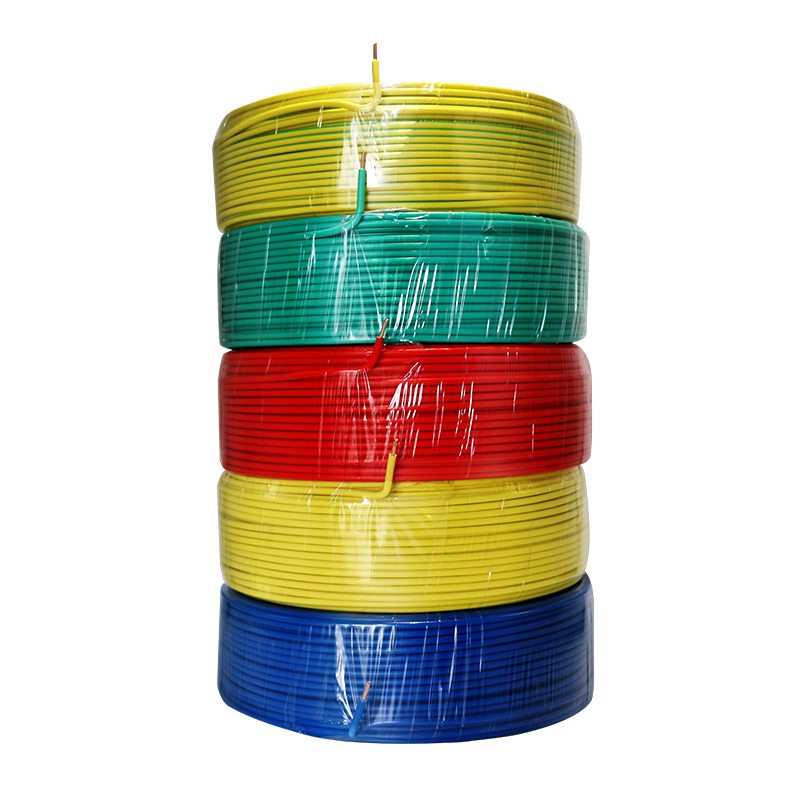 Electrical house wiring flexible single solid copper conductor PVC insulated electric wire
