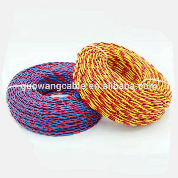 2×0.75mm2 copper conductor PVC insulated twisted pair flexible wire and cable  flame-retardant
