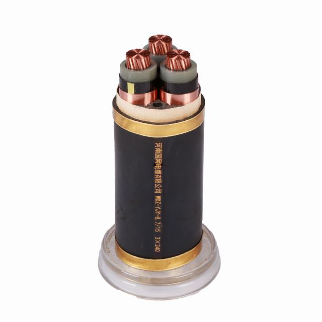 GuoWang Group XLPE copper wire 3 Core 95 mm2 power cable Mindium Voltage cable
