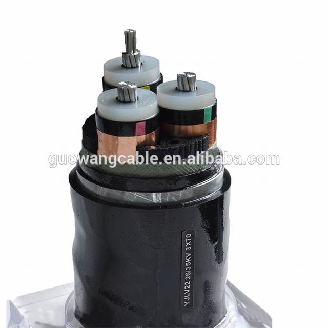 6/11kv 26/33kV  Aluminum Wire Armoured  3 Core Copper CTS Power Cable