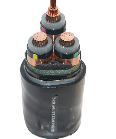 PVC/XLPE insulation PVC sheath steel wire armoured fireproof high voltage power cable 8.7/15KV