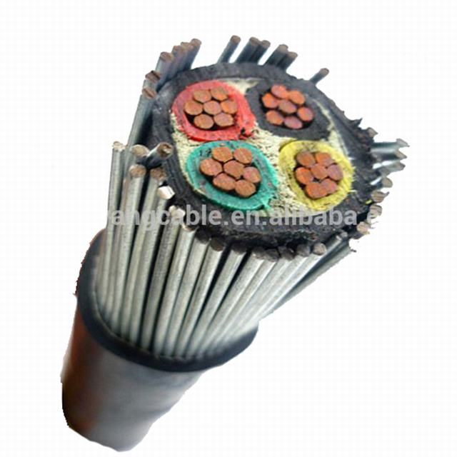 4 cores sta steel wire armoured cable