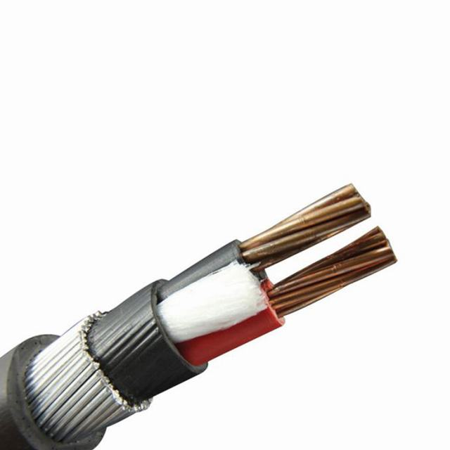 2 conductor cores low voltage steel armoured black electrical outdoor cable