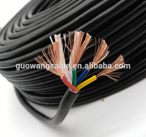 copper conductor 22AWG*6 cores wire PVC JACKET computer cable
