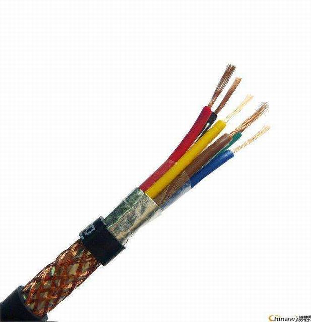 Flexible copper conductor core 0.45/0.75kV PVC insulated copper wire braided shield CWS PVC jacket control cable