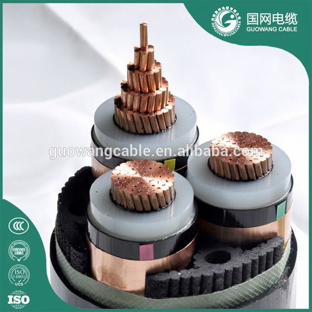 High Voltage Electric Power Cable 12/20KV 3 Core 240mm2 CU/XPLE/SWA Armoured Cable