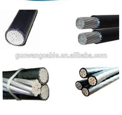 Long time using aluminum power cable AAC wire 3 core 95mm power abc cable