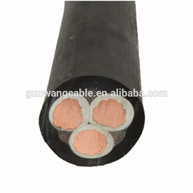 Rubber Sheath ESP Electric Submersible Pump Cable Water Usage Submersible Pump Power Cable