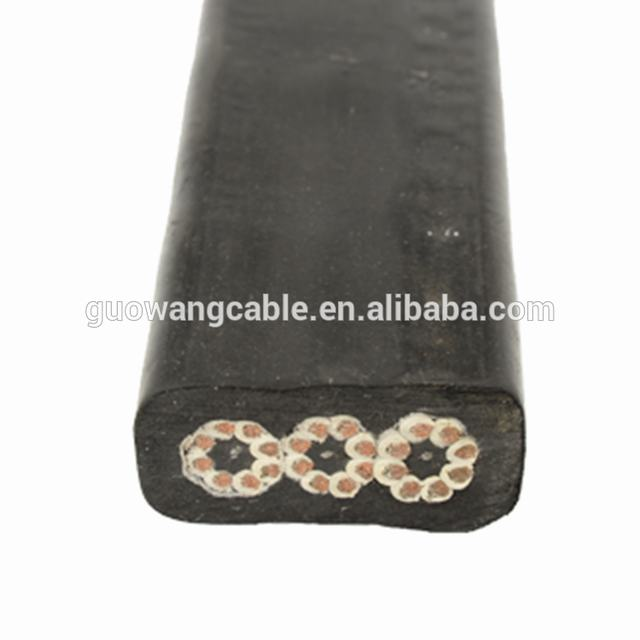 Silicon rubber neoprene polychloroprene flat rubber cable price list