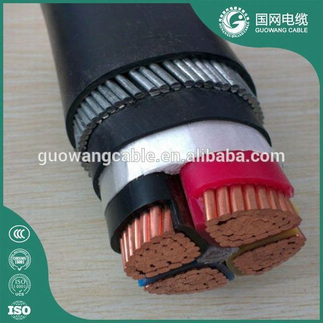 Xlpe Insulated Steel Wire Armored Power Cable Waterproof Underground Armored Cable LV Copper Conductor zr yjv cable