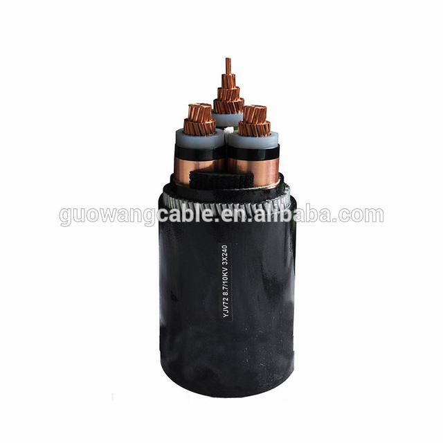 medium voltage 8.7/15kv single core or three cores XLPE insulated power cable