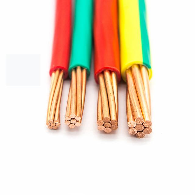 450/750V PVC insulated electrical wire copper conductor BV