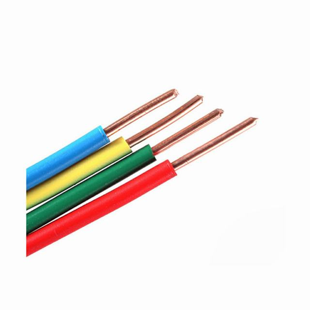 450/750v Lighting wire 6mm2 single core solid copper conductor PVC Insulation electric cable