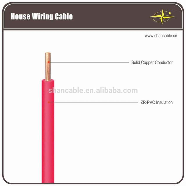 Fire resistant BV PVC insulated copper conductor electric wire