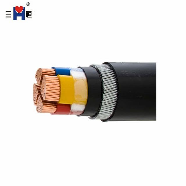 Four Core of 70 mm2 0.6/1kv PVC Insulated Steel Wire Armoured Cable