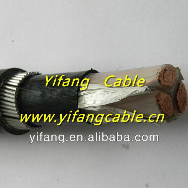 0.6/1KV Copper XLPE insulated underground armoured power cable