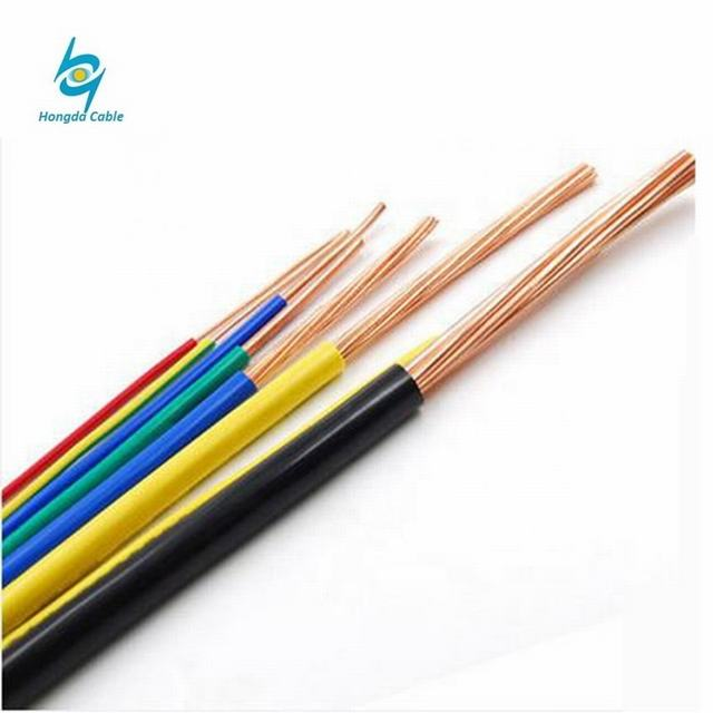 100% pure copper 450/750V bv bvr 1.5mm electrical bare copper wire for home house