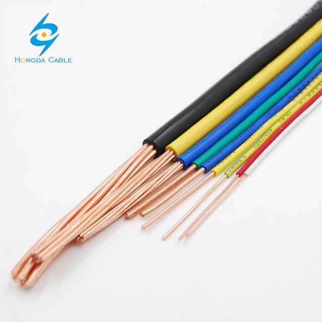 450/750V 10 sq mm 16 sqmm 25 sq mm copper core pvc insulated coated wire
