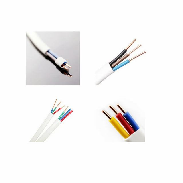 CE Certificated Flat Cable House Wiring PVC Insulation Twin and Earth Flat Cable