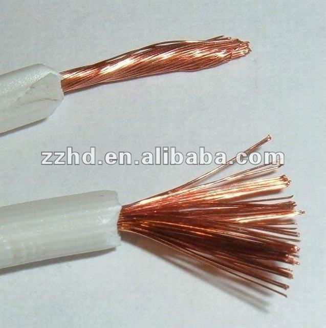 white color pvc insulated copper flexible wire lamp wire