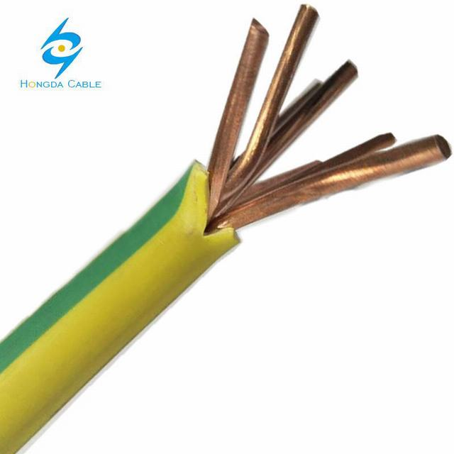 yellow/green electric wire earth cable grounding cable 50mm2 35mm2